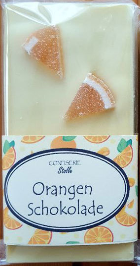 Schokoladentafel Orange 100g